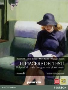 """Copertina del sesto volume de """"Il piacere dei testi"""""""