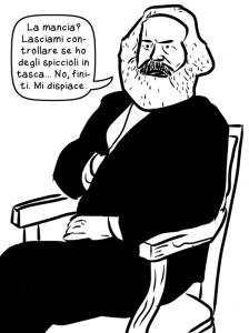 Karl Marx non dà la mancia