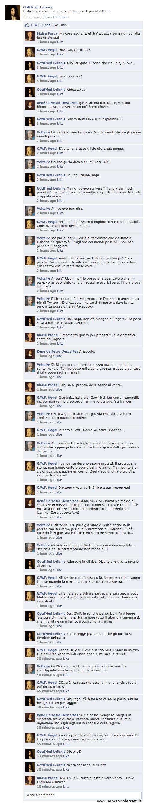 Leibniz su Facebook