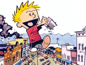 Calvin immagina di distruggere una città