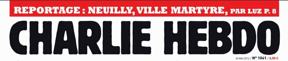 La testata di Charlie Hebdo