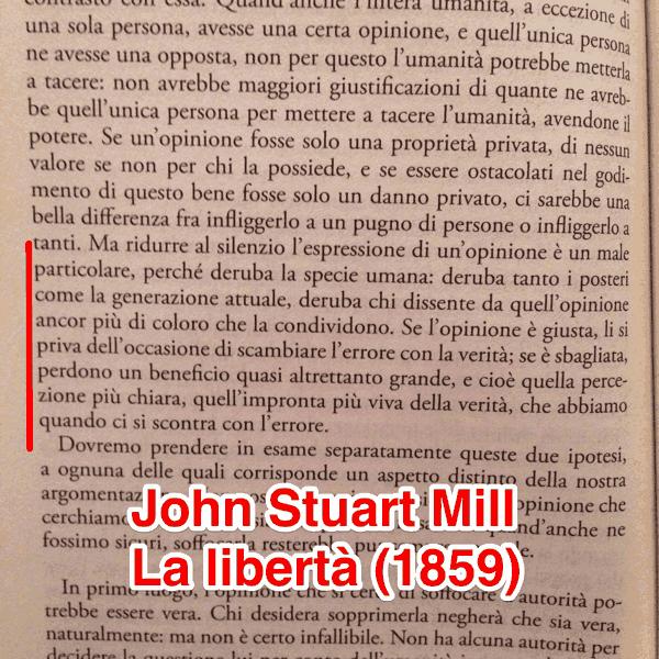 "Da ""On Liberty"" di John Stuart Mill"