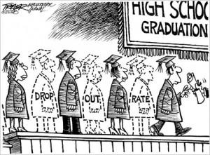 Una vignetta sull'alto tasso di abbandono negli USA