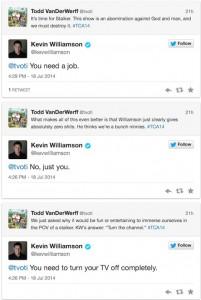 Kevin Williamson, già creatore di Dawson's Creek e The Vampire Diaries, risponde ad alcune critiche