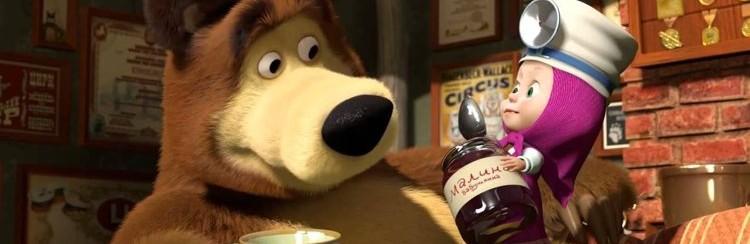 Masha cura un Orso malato