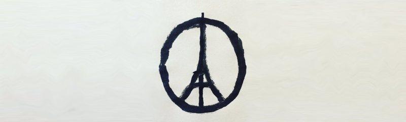 Il disegno di Banksy per ricordare i morti di Parigi